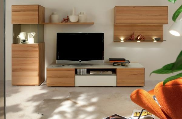 Wohnwand Gestalten Wohnzimmer