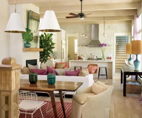 Modernes Wohnzimmer einrichten  Wohn und Kchenraum