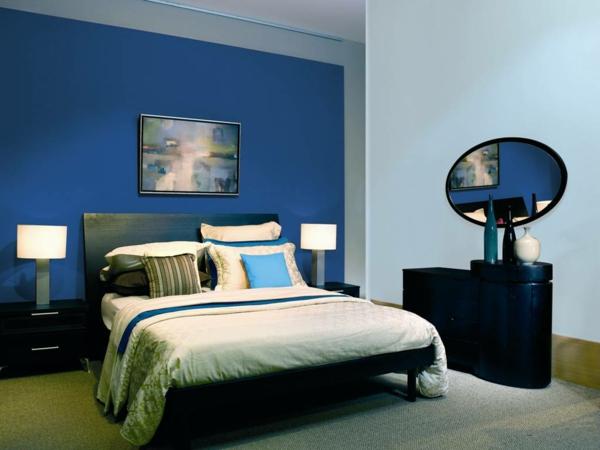 Wandfarbe Taubenblau  ein Gefhl fr Ruhe und Erholung