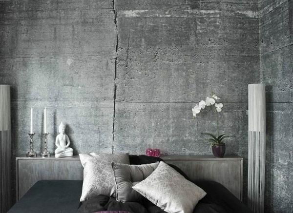 Wandfarbe mit Betonoptik fr einen industriellen Look