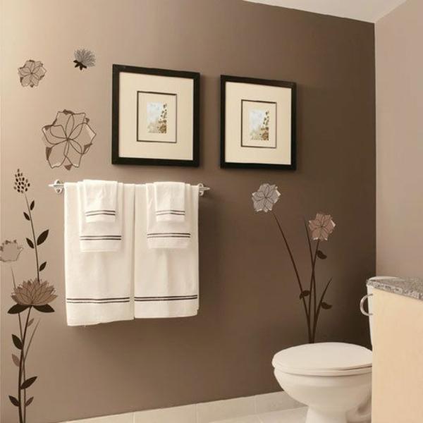 Wohnzimmer Ideen Wandgestaltung Braun  Rheumricom