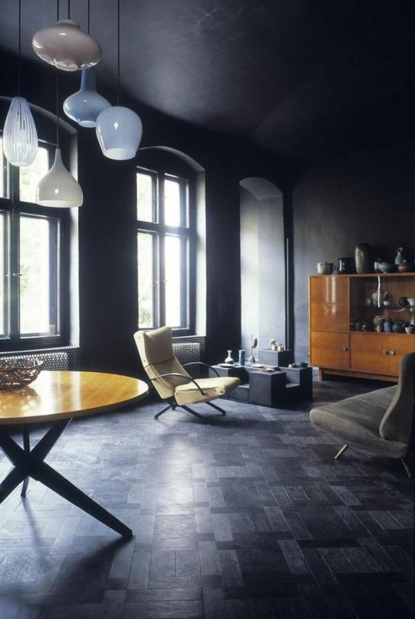 u sofa best bed new york wände streichen - farbideen in dunklen schattierungen