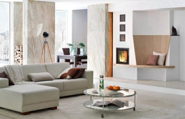 Moderne Wandgestaltung Wohnzimmer - Boisholz