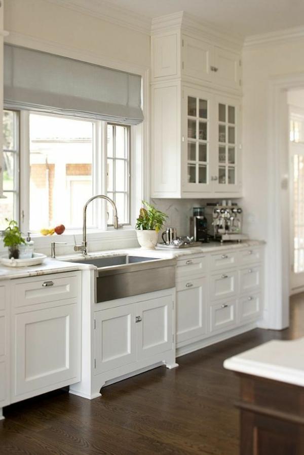 gray cabinets kitchen colors for raffrollo für küche - eine praktische dekoration die ...
