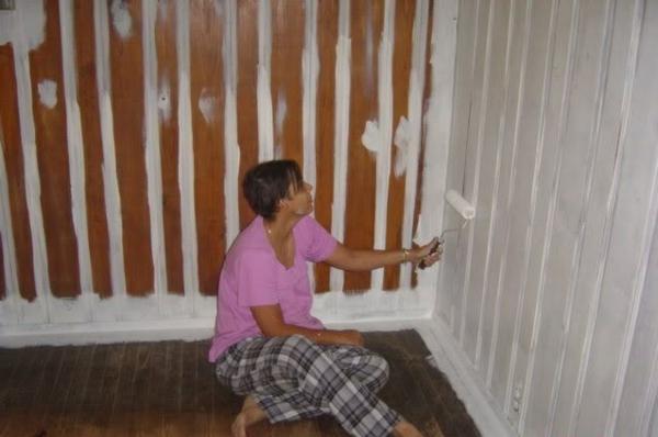 Kunststoffpaneele streichen um den Wohnraum aufzufrischen