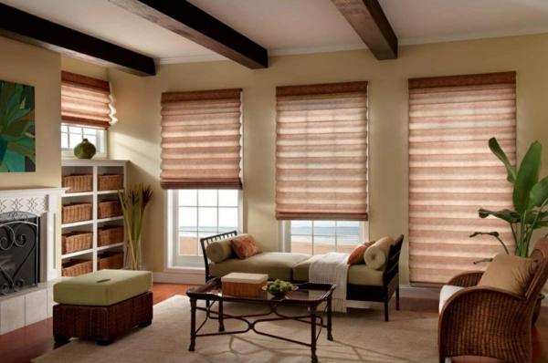 window blinds for living room small designs with fireplace raffrollo statt gardinen und jalousien für schöne fenster