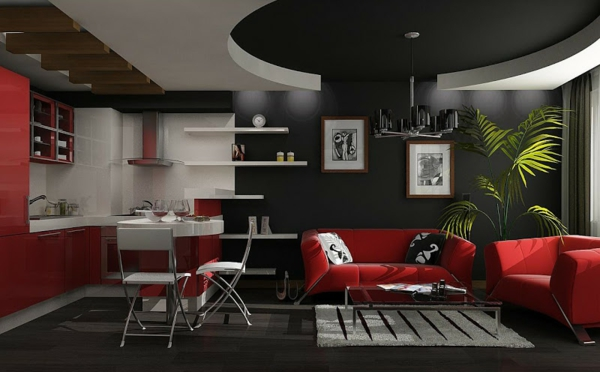 Bedroom Ideas Red Black And White