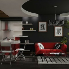 Living Room Pictures Black And White Design Furniture Wände Streichen - Farbideen In Dunklen Schattierungen
