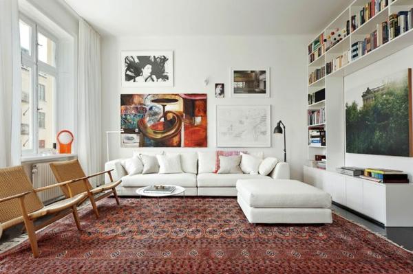 Wandbilder hinter das Sofa richtig aufhngen