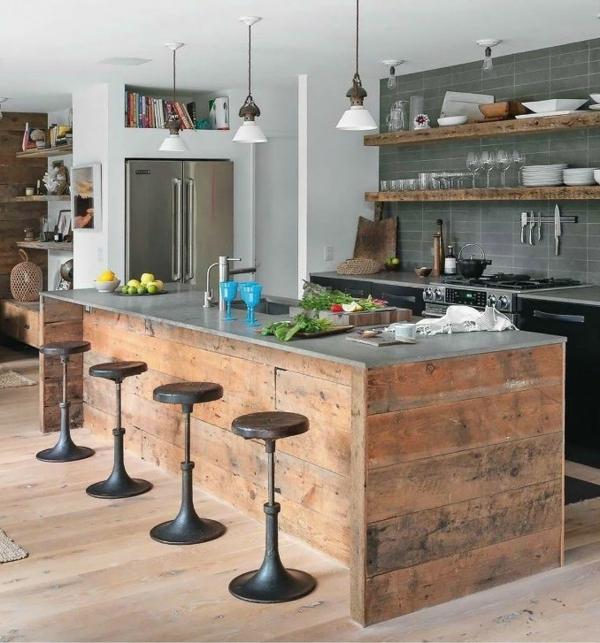 küche ohne hängeschränke ideen  haus möbel lampe