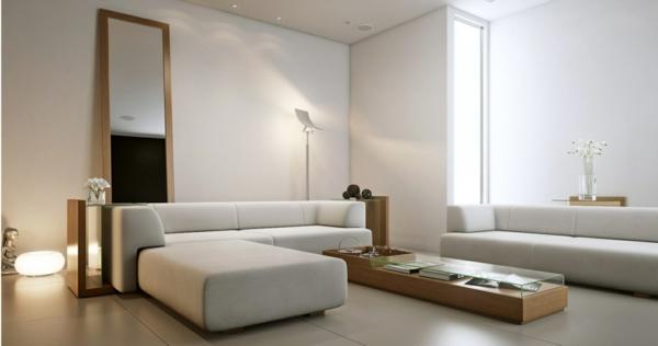 Einrichtungsideen frs Wohnzimmer  Schlichte und elegante
