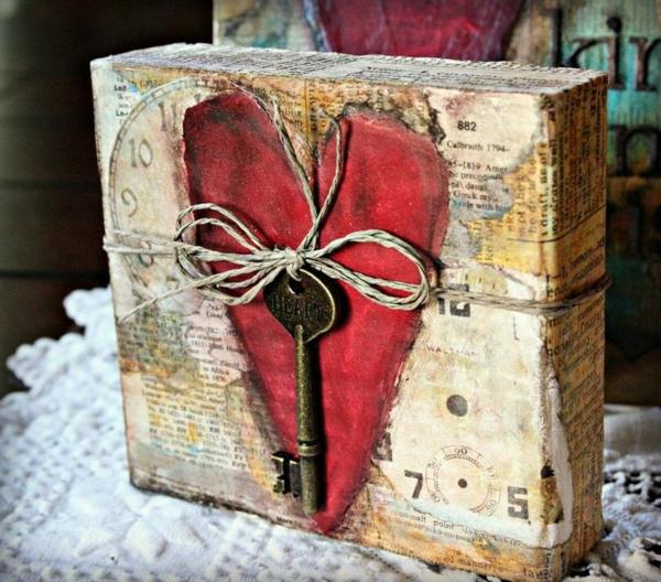 Valentinstag Geschenke selber machen  haben Sie schon