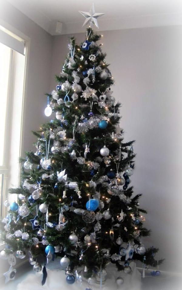 Weihnachtsbaum Geschmuckt Modern Seil Dekoration Passt Zu