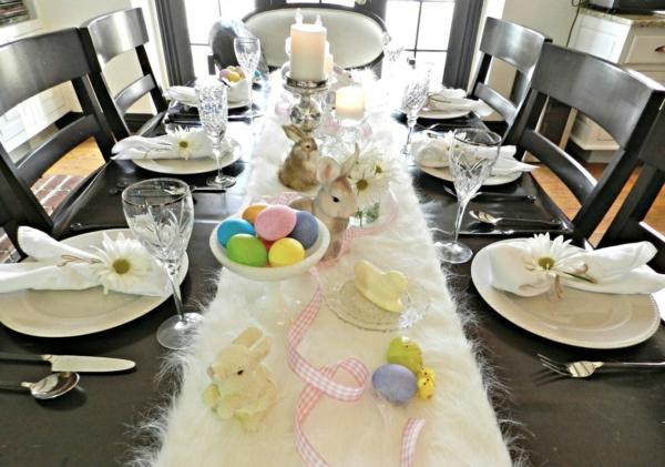 Tischdeko Ostern  basteln Sie eine frhliche Feststimmung