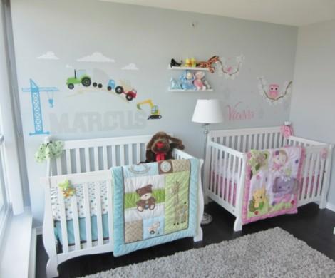 Babyzimmer Mdchen und Junge  einige kombinierte
