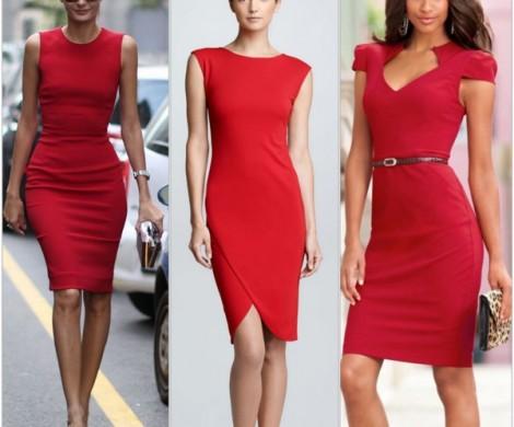 Rotes Kleid kaufen welche Frauen tragen gern Rot
