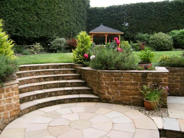 Tolle Gartenideen mit Treppen die das Exterieur schner machen