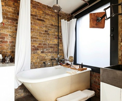 Badgestaltung Ideen mit Ziegelwnden fr eine traumhafte Atmosphre