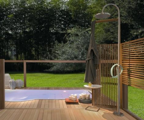 Gartendusche Sichtschutz  Ideen fr die OutdoorDusche gesucht