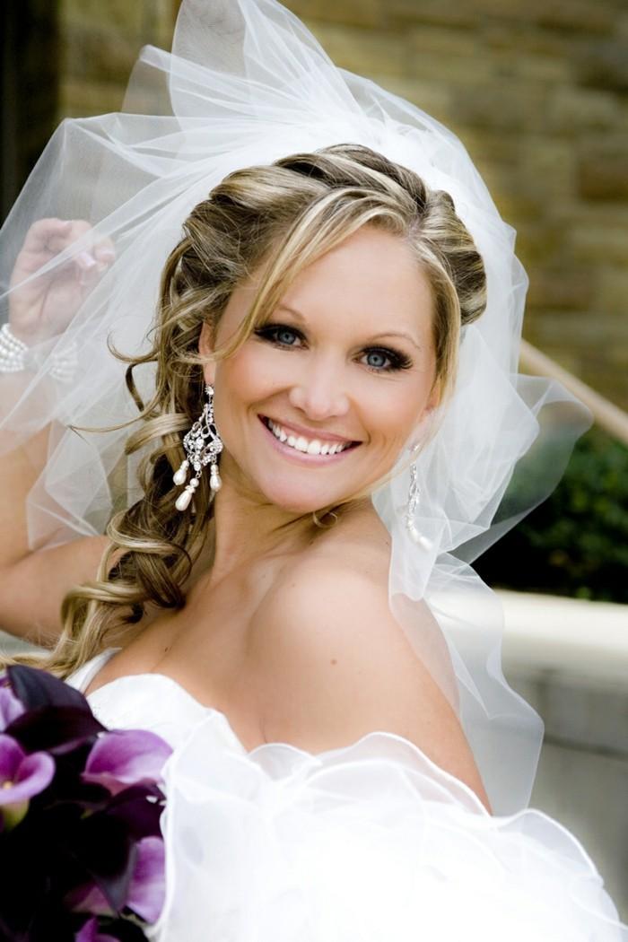34 Beispiele fr zeitlose Brautfrisuren mit Schleier