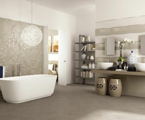 Wandgestaltung Ideen fr individuelle und gehobene Badgestaltung