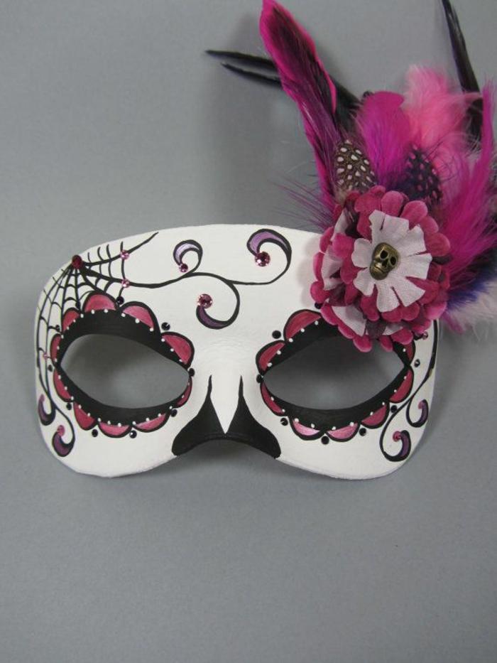Gruselige Masken als Bastelidee zu Halloween