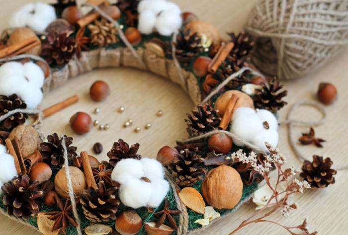 Weihnachtskranz basteln  32 inspirierende Bastelideen fr Weihnachten