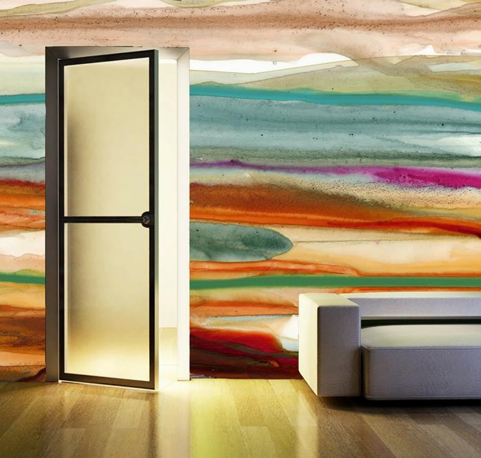 32 WandfarbenIdeen mit Aquarell die Sie begeistern werden