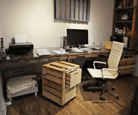 1001 Ideen fr Schreibtisch selber bauen  21 Ideen aus Paletten