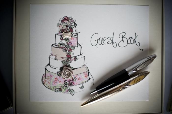 Hochzeitsgstebuch als Erinnerung an die Feier