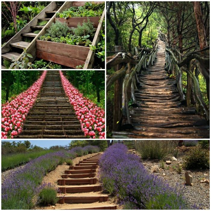 Gartentreppe Holz  Balance Und Harmonie In Den Garten