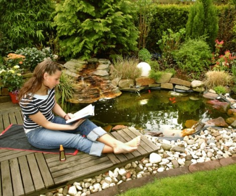 Fischteich  20 inspirierende BildIdeen fr Gartenteich
