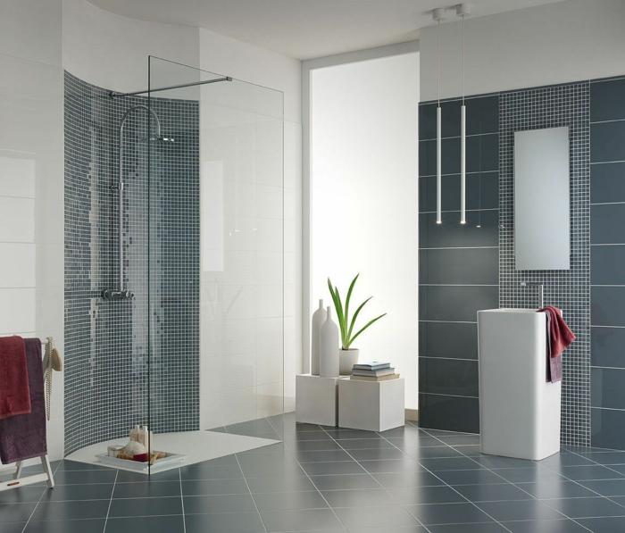 Graue Fliesen frs Badezimmer  61 Bilder die Sie beeindrucken werden