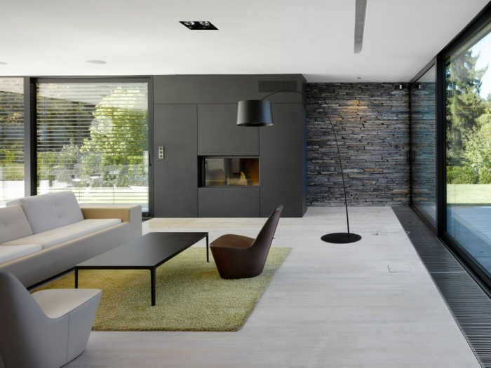 Wohnzimmer Fliesen  37 klassische und tolle Ideen fr Bodenfliesen