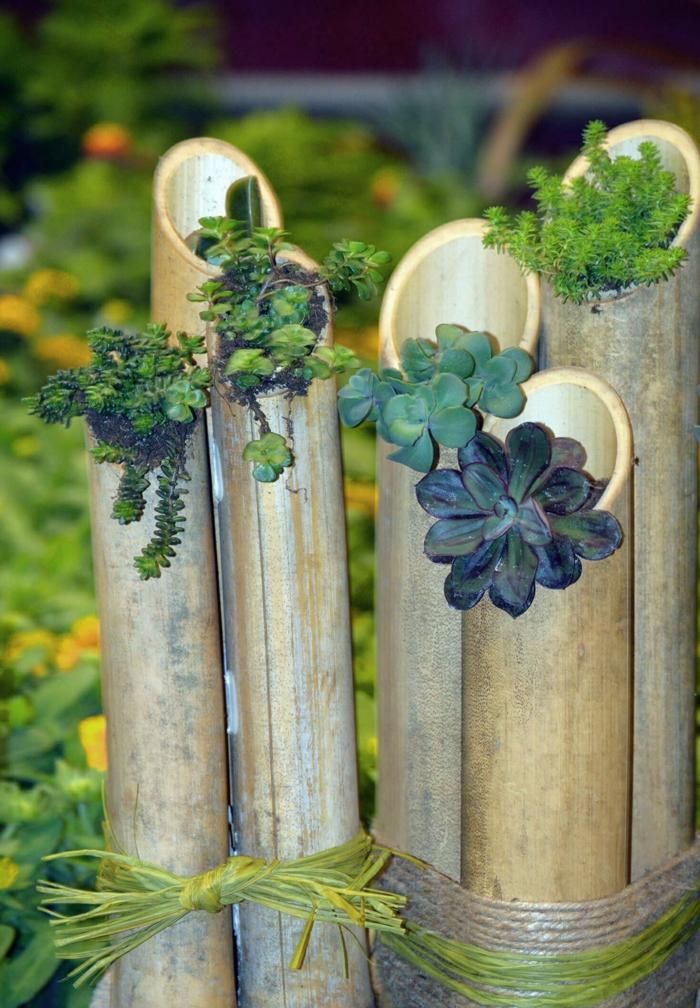 Bambus Deko  ein exotisches Flair fr den Garten
