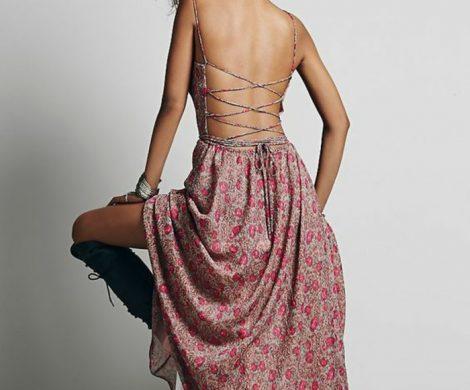 Rckenfreies Kleid und verlockende Kombinationen fr den Sommer