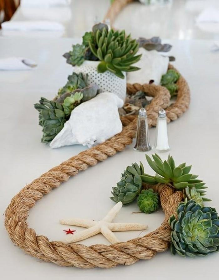 Tischdeko Ideen fr eine Sommerparty mit Meeresbrise