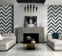 Wohnungsdeko mit geometrischen Mustern