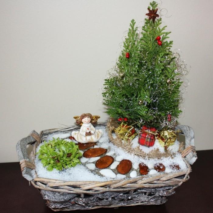 Ideen fr lebende Weihnachtsdekoration