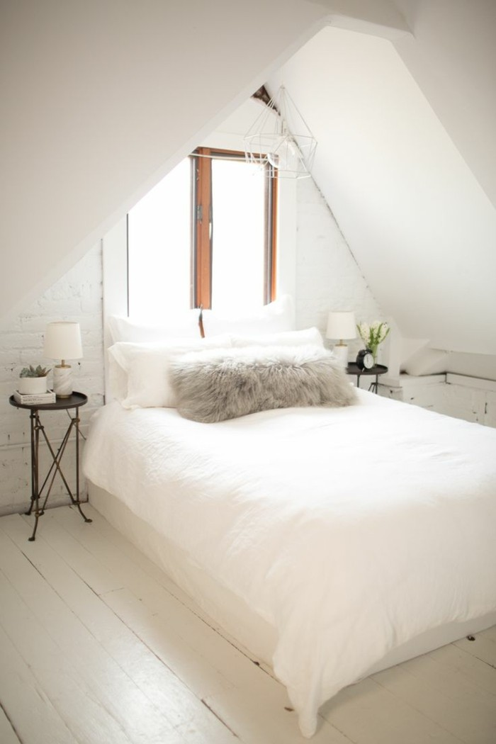 schlafzimmer mit dachschräge gestalten  dachschräge