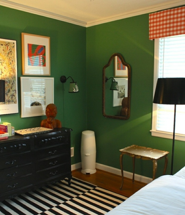 Wandfarbe Grn und ihre einsatzwerte Designerinterpretationen
