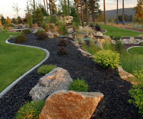 Gartengestaltung mit Steinen  Schwarze Steine fr mehr