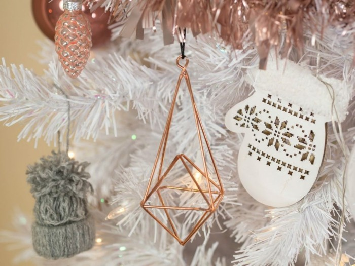Extrem Attraktive Weihnachtsdekoration In Rose Gold Ideen