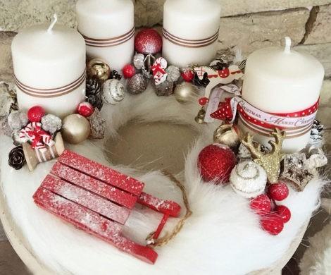 Adventskranz selber machen  klassische und neue Ideen zum Weihnachten
