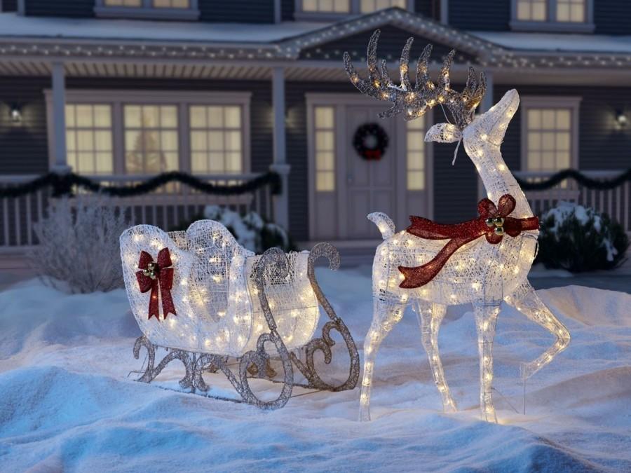 Coole Weihnachtsdekoration im Auenbereich gestalten