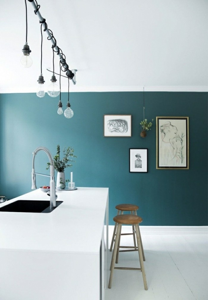 Petrol Farbe  Ideen fr Wandgestaltung und hilfreiche Tipps