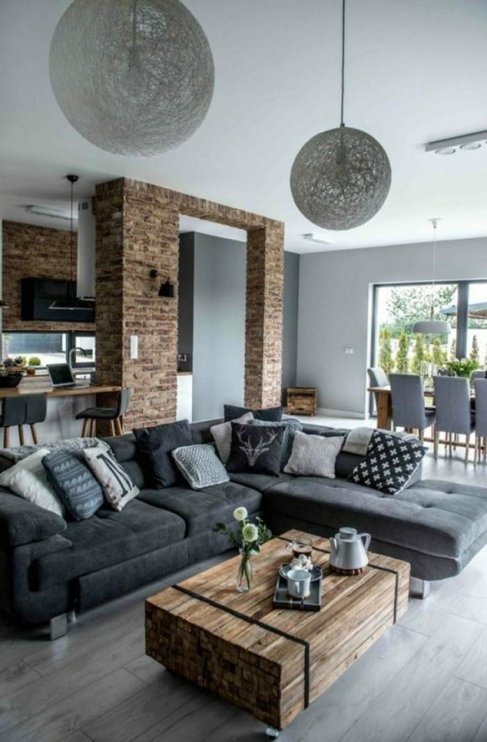 Farbideen Wohnzimmer Grau fr Stil Stabilitt und Harmonie