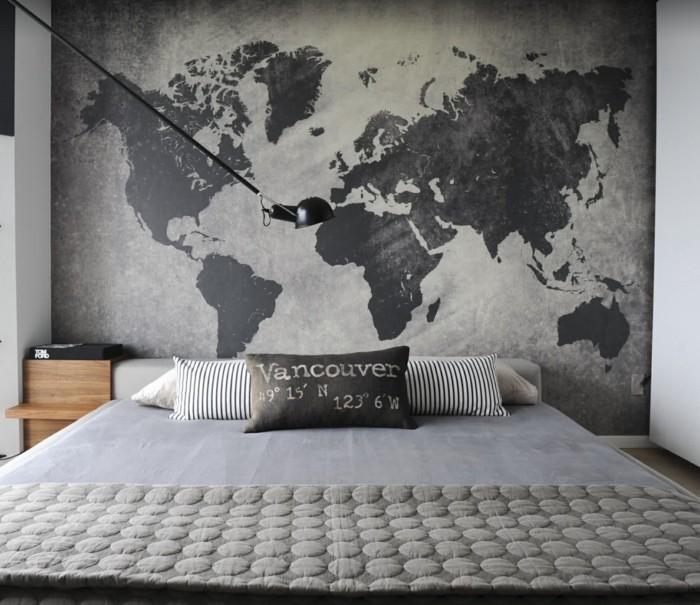 Die elegante Wandgestaltung mit Lerneffekt  Weltkarte Wand