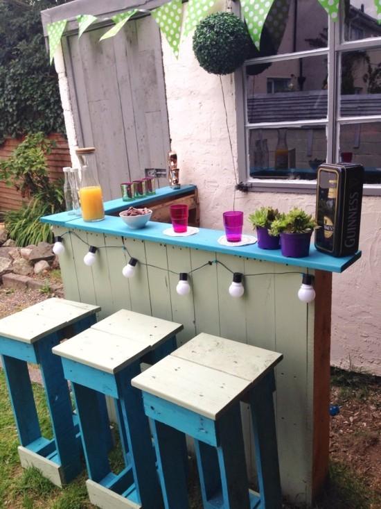 Gartenbar selber basteln  kreative Ideen dafr