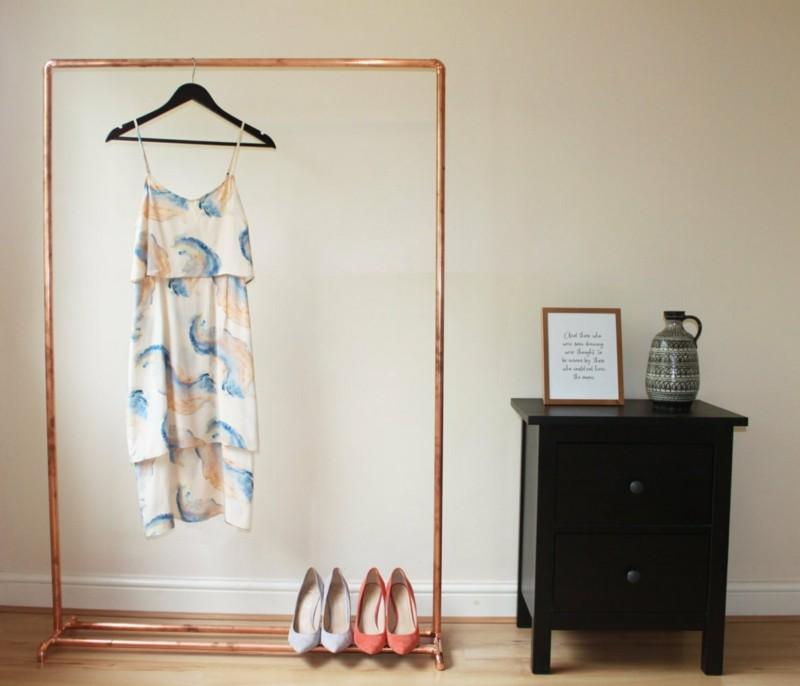 30 klevere stilvolle und moderne Kleiderstangen Ideen